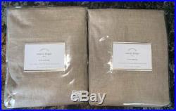 New2Pottery Barn Emery Linen Cotton DrapesWalnut50x108