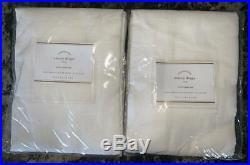 New2Pottery Barn Emery Linen Cotton DrapesWhite50x84