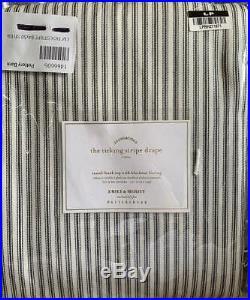 New2Pottery Barn Emily Meritt Ticking Stripe Curtains Drapes Blackout50x84