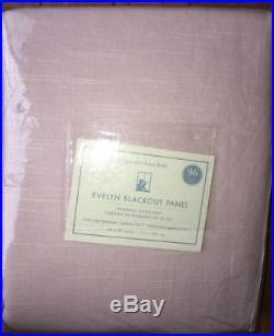 New2 Pottery BarnEvelyn Linen Blend Blackout Panels Drapes 96 Pink