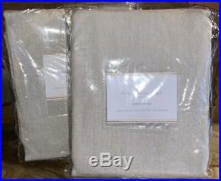 New2 Pottery Barn Belgian Linen Flax Drapes50x96Natural