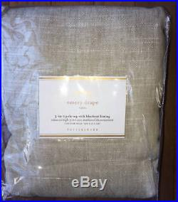 New2 Pottery Barn Emery Blackout Drapes DoublewideOatmeal100x84