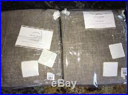 New2 Pottery Barn Emery Double Wide DrapesSable Brown100x96