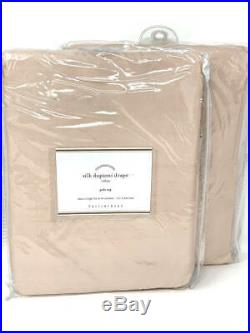 New2 Pottery Barn Silk Dupioni Drapes Panels CurtainsSoft Rose50x96