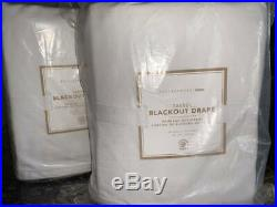 New2 Pottery Barn Teen Blackout Tassel Drapes Curtains52x108GOLD White