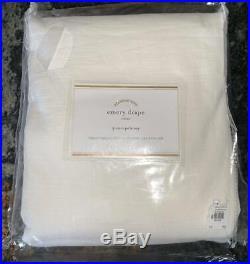 NewPottery Barn Emery Linen Cotton Doublewide DrapeWhite100x108