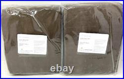NewSet of 2Pottery Barn Velvet Twill Curtain DrapesCappuccino50x108