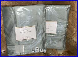 NewSet of 2 Pottery Barn Silk Dupioni DrapesBlue Dawn50x84