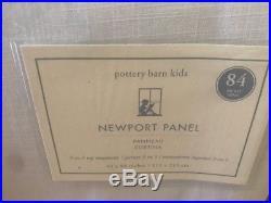 New 2 Pottery Barn 84 White Navy Border Newport Classic Nautical Blackout Drape