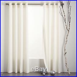 New 2 Pottery Barn Ivory Grommet Drape set of 2 Panels 50 x 96 curtains Cameron