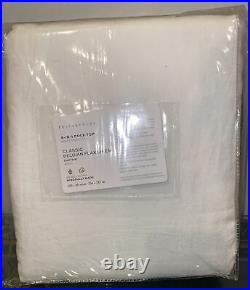 New Pottery Barn Classic Belgian Flax Linen Curtain 100x96 White