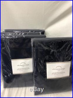 New Pottery Barn Dupioni Silk Blackout Drapes 50 x 84IndigoSet of 4
