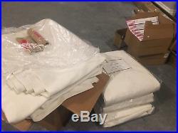New Pottery Barn Emery Drape Ivory 50x96 Linen Cotton Pole Top / Back Loop Hooks