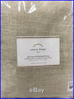 New Pottery Barn Emery Linen/Cotton Blackout Drapes 50 x 108OatmealSet of 2