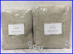 New Pottery Barn Emery Linen/Cotton Blackout Drapes 50 x 108OatmealSet of 4