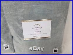 New Pottery Barn Emery Linen Cotton Drapes 50x84 Blue Dawn set of 6