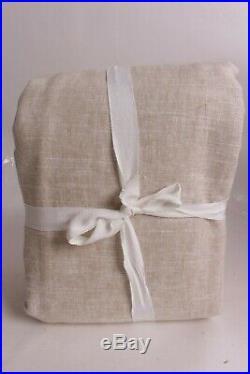 New Pottery Barn Emery linen cotton pole top curtain drape panel 100x108 oatmeal