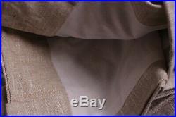 New Pottery Barn Emery linen cotton pole top curtain drape panel 100x96 oatmeal
