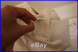 New Pottery Barn Emery pole drape panel 100x84 white linen cotton blackout