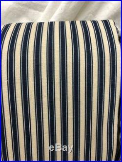 New Pottery Barn Sateen Stripe Print Blackout Drapes 50 x 108IndigoSet of 2