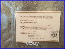 New Set Of Pottery Barn Belgian Flax Linen Sheer Drapes / Curtains Gray