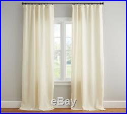 New Set Of Pottery Barn Classic Belgian Flax Linen Curtains Ivory