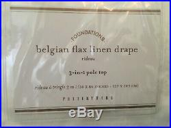 New Set of Pottery Barn Classic Belgian Flax Linen Curtains / Drapes White