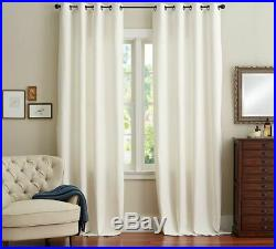 New Set of Pottery Barn Emery Grommet Drapes / Curtains Ivory