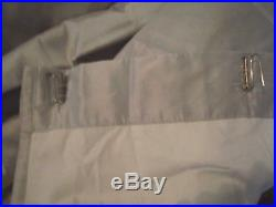 PAIR POTTERY BARN Dupioni Silk 104x84 DOUBLE WIDE Drapes, PLATINUM GRAY EXC