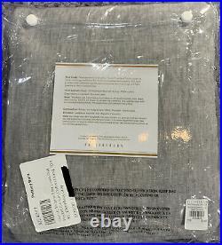 PB Belgian Flax Linen Rod Pocket Curtain, Cotton Lining, 50x96, Chambray Gray