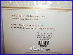 POTTERY 2 BARN BELGIAN FLAX LINEN COLORBLOCK SHEER DRAPE Curtain NAVY 108 #1521