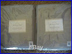 POTTERY BARN 2 Dupioni Silk Drape Panels 50 x 96 NEW PLATINUM GRAY