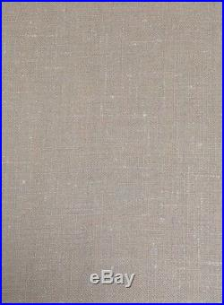 Pottery Barn 2 Washed Belgian Linen Drapes Cotton Lining 50x108 Natural