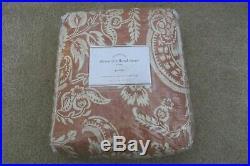 POTTERY BARN Alessandra Paisley Floral Pole Pocket Drape Curtain 108 NEW Red