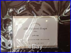 Pottery Barn Dupioni Silk Set Of 2 Pole Top Double Width 104w X 96l Espresso