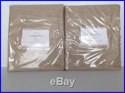 Pottery Barn Dupioni Silk Set Of 2 Pole Top Drapes 50x84parchment New Msrp $318