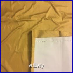 POTTERY BARN Dupioni SILK Pocket-Pole Drape 50x96 Wheat Gold SET/2