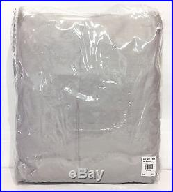 POTTERY BARN Dupioni Silk 104x108 DOUBLEWIDE Drape, PLATINUM GRAY, NEW