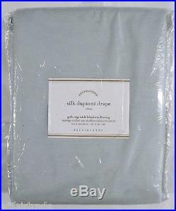 POTTERY BARN Dupioni Silk 50 x 124 BLACKOUT Drape, PORCELAIN BLUE, NEW