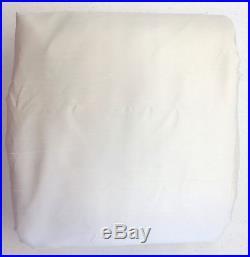 POTTERY BARN Dupioni Silk BLACKOUT Drape, DOUBLEWIDE 104x 96, IVORY, NEW