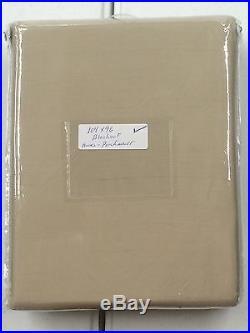 POTTERY BARN Dupioni Silk BLACKOUT Drape, DOUBLEWIDE 104x 96, PARCHMENT, NEW