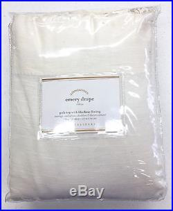 POTTERY BARN Emery BLACKOUT Drape Panel, 50x108, IVORY, NEW, 2-available