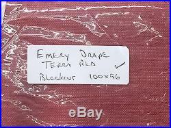 POTTERY BARN Emery DOUBLEWIDE 100 x 96 BLACKOUT Drape, TERRA RED, NEW