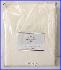 POTTERY BARN Emery DOUBLEWIDE 100x96 Drape, Cotton Lined, IVORY, NEW, 2-Avail