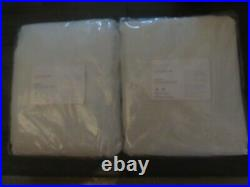 POTTERY BARN Emery Linen BLACK OUT Curtains50 x 96WHITESET OF 2