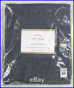 POTTERY BARN Emery Linen/Cotton 96 Drape Panel, INK BLUE, NEW