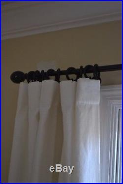POTTERY BARN Ivory Emery Linen/Cotton Pole-Pocket Drape 50x84 panels 6 TOTAL