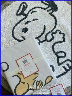 POTTERY BARN KIDS Peanuts Shower Curtain Bath Mat