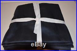 POTTERY BARN SILK DUPIONI DRAPE DOUBLEWIDE 104x108 Navy Blue BLACKOUT $399 NAVY