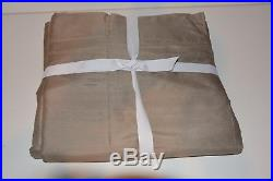 POTTERY BARN SILK DUPIONI DRAPE DOUBLEWIDE 104x96 Brownstone COTTON LINING $339